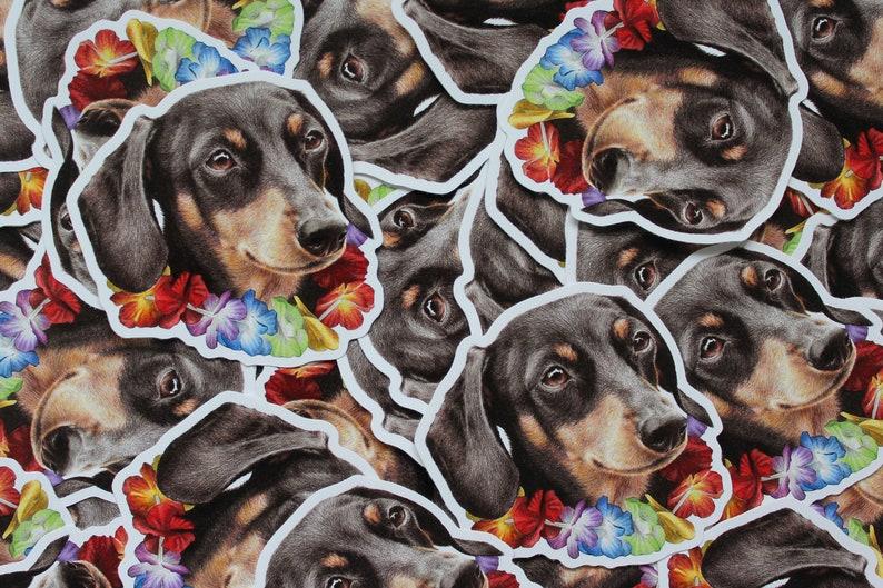 Party Pooches Dog Vinyl Sticker 3 Pack  Pet Portrait image 0