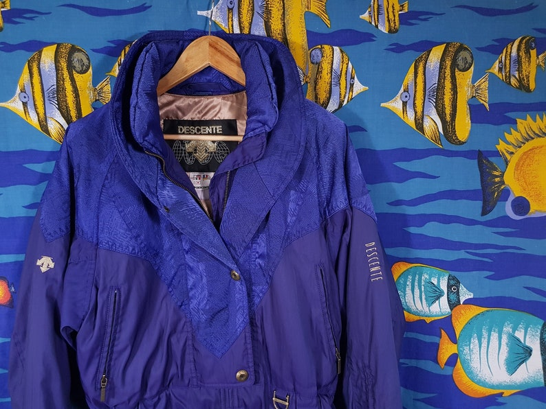 b06349ea3 90s Descente Ski Jacket Size Large Snow Skiwear Grunge Winter Fresh Prince  Salt N Pepa Hip Hop Warm Coat Retro Unisex Blue Purple Vintage
