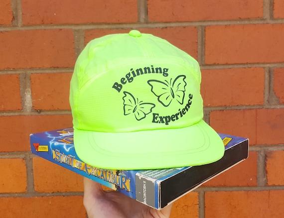 32928339432 Vintage 90s Neon Green Cap 5 Panel Hat Gift Baseball Cap