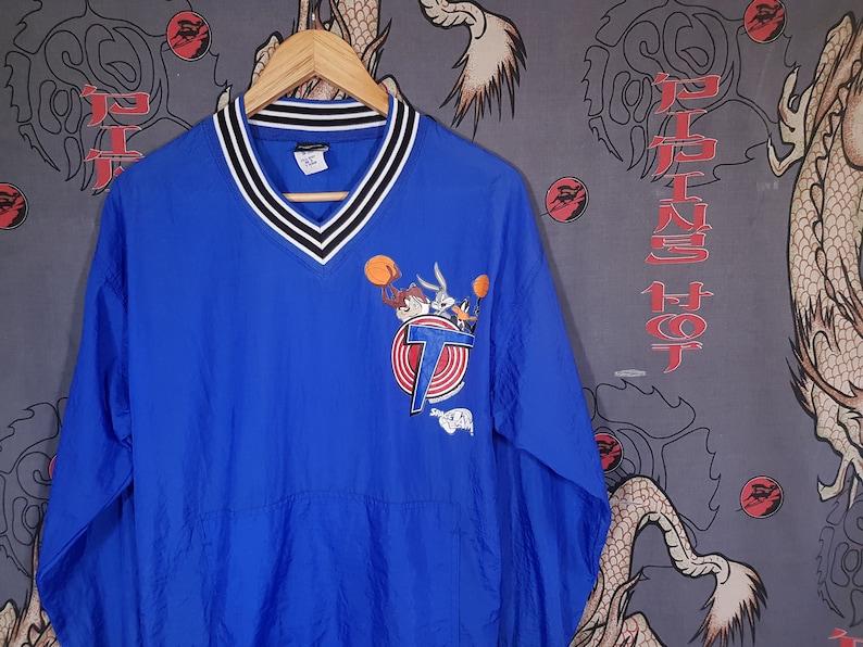 98639e15799b9c 90s Space Jam Windbreaker Size Medium Vintage Jacket