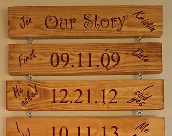 Our Story Plaque