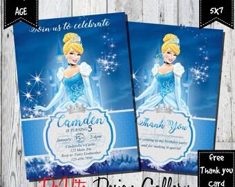 Cinderella Invitation Etsy