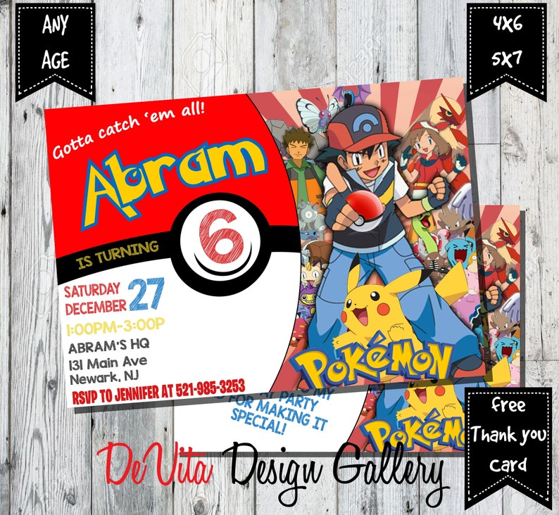 picture regarding Pokemon Party Invitations Free Printable identified as Pokemon Invitation. Pokemon Birthday Invitation, Pokemon Birthday Card, Pokemon Occasion, Pokemon Transfer Invitation, Free of charge THANK Yourself Card