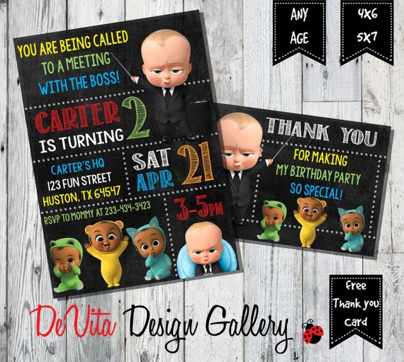 Boss Baby Invitation Birthday PartyBoss