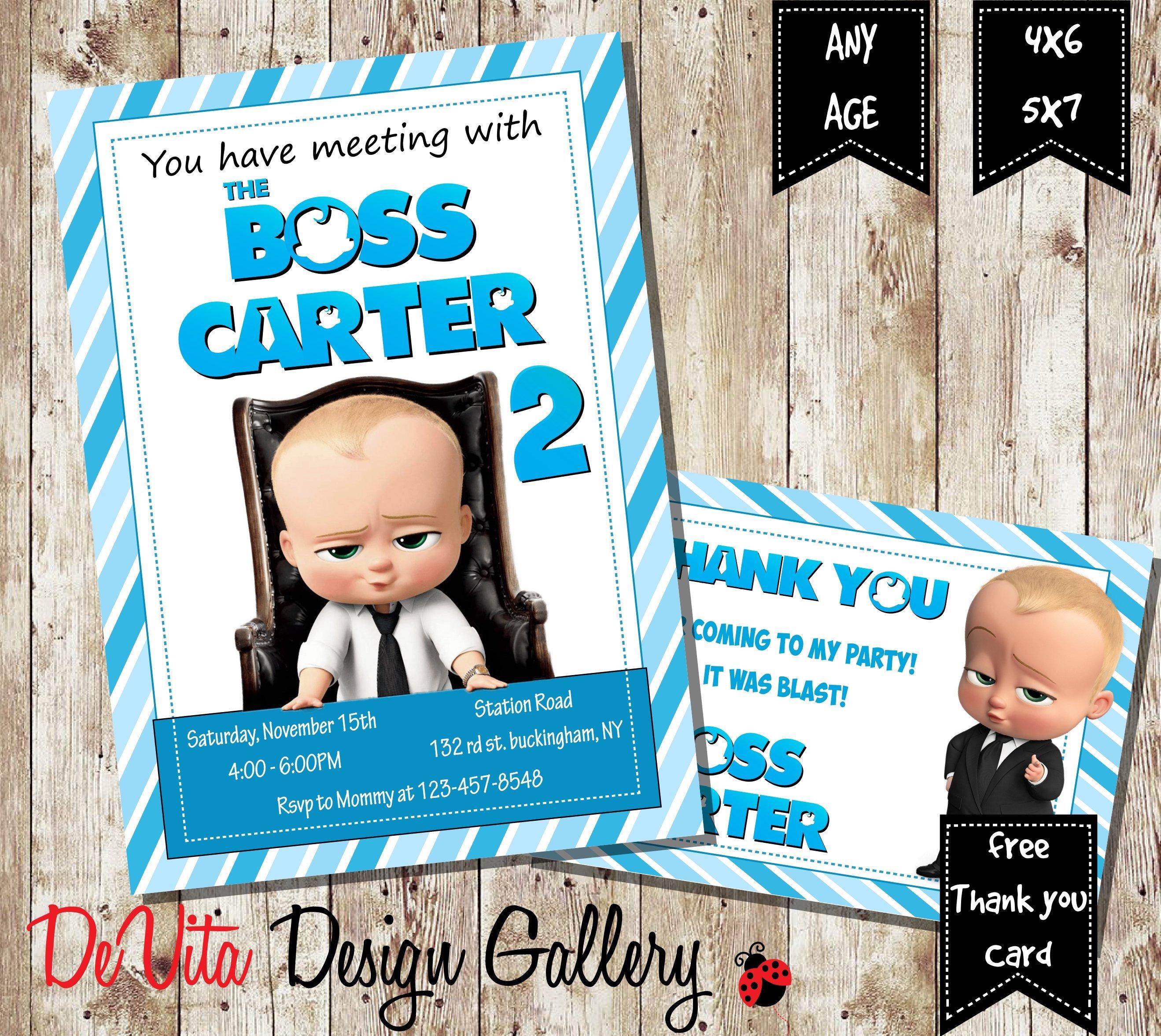 Boss Baby Invitation Boss Baby Birthday Partyboss Baby Etsy