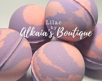 Lilac Bath Bomb - Handmade, Bath Bombs, Birthday, Mother's Day, Mom, Sister, Aunt, Gift for Her, Party Favor, Favors, Bath Fizz, Bathbomb