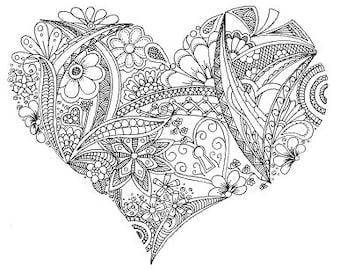 Colouring Sheet - Locket Heart
