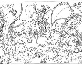 Octopusses Garden - Colouring Sheet
