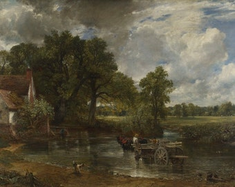 John Constable : The Hay Wain (1821) Canvas Gallery Wrapped Giclee Wall Art Print (D45)
