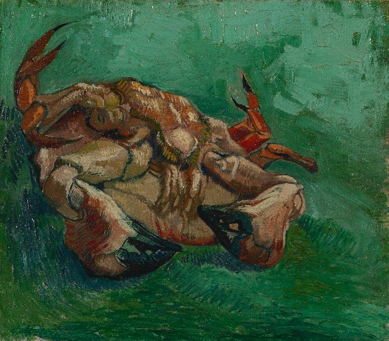 Vincent van Gogh : A Crab on its back 1887 Canvas Gallery image 0