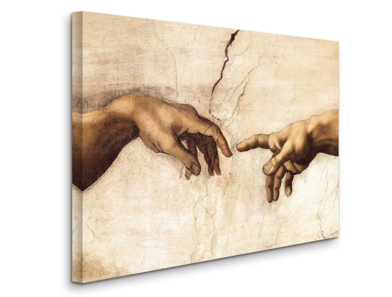 Michelangelo Buonarroti : Hand of God The Creation of Adam ...