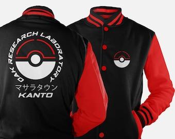 Oak Research Kanto Varsity Jacket inspired by Pokemon