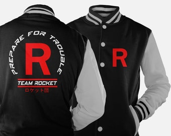 Team Rocket Varsity Jacket inspired by Pokemon
