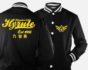 Kingdom of Hyrule Varsity Jacket inspired by Legend of Zelda