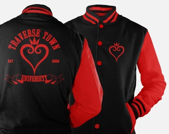 Traverse Town University Varsity Jacket inspired by Kingdom Hearts