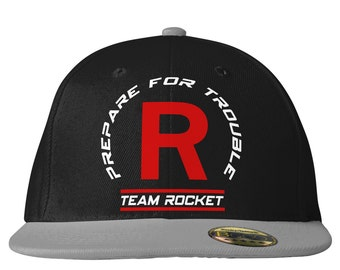 Team Rocket Snapback Cap inspired by Pokemon