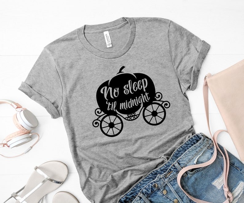 9d6881a4b1 No Sleep Till Midnight Disney Shirt Cinderella Shirt