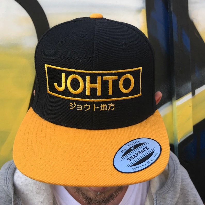 c2bf7920cda Limited Edition JOHTO Snapback Cap inspired by Pokemon