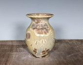 Tiny Vase, Handmade Ceramic, Crystalline Glazed
