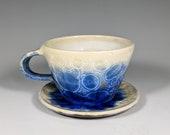 Gift for MOM Handmade Tea Cup and Saucer Set