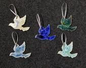 Gift for MOM Ceramic Dove Ornament