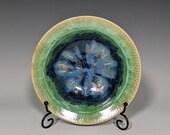 Pottery Bowl, Handmade, Crystalline Glazed