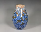 Pottery Vase, Handmade, Crystalline Glazed