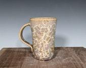 Pottery Mug, Hand Thrown, Crystalline Glazed
