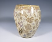Gift for MOM Hand Thrown Crystalline Pinch Cup or Vase