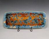 Ceramic Tray, Crystalline Glazed, XLarge Handmade