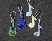 Gift for MOM Ceramic Guitar or Music Note Ornament