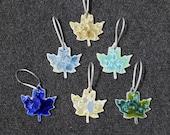 Gift for MOM Ceramic Maple Leaf Ornament