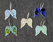 Ceramic Angel Wings Ornament
