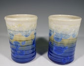 Ceramic Cup Set of 2, Small Hand Thrown