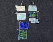 Ceramic State Ornament Montana, Wyoming, Colorado, New Mexico, North Dakota, South Dakota, Nebraska