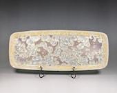 Ceramic Tray, Crystallline Glazed, XLarge Handmade