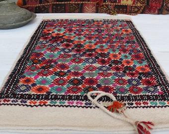 "2'0""x3'5"" Ethnic Bohemian Turkish Kilim Sack,Vintage Kilim Bag ,Kilim Floor Pillow"