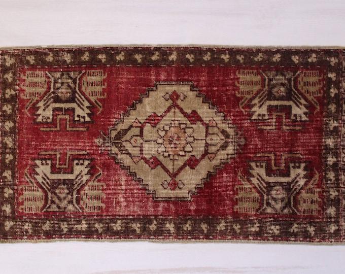 1'5'X3' Vintage Handwoven Rug Door Mat, Ethnic Wool rug door mat,Bohemian Rug Door Mat, Home decoration,Small kilim