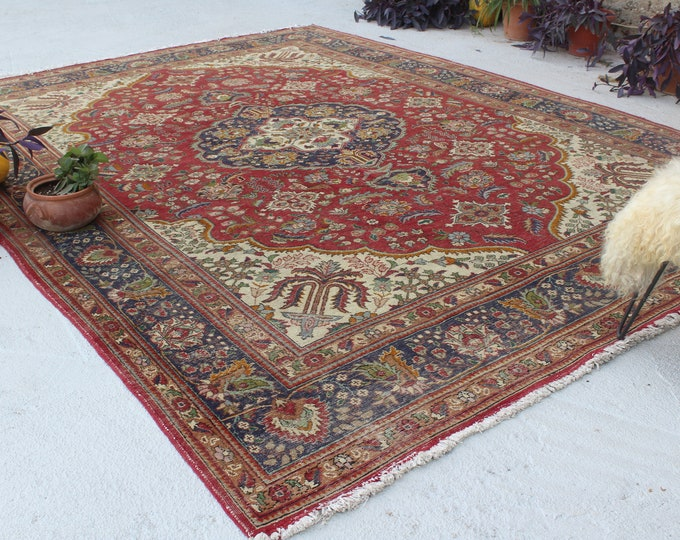 "9'6""x12'9"" ft   Vintage Large Area Rug, Large Turkish Rug, Large Kayseri Rug, Large Medallion Rug, Over Sized Turkish Area Rug"