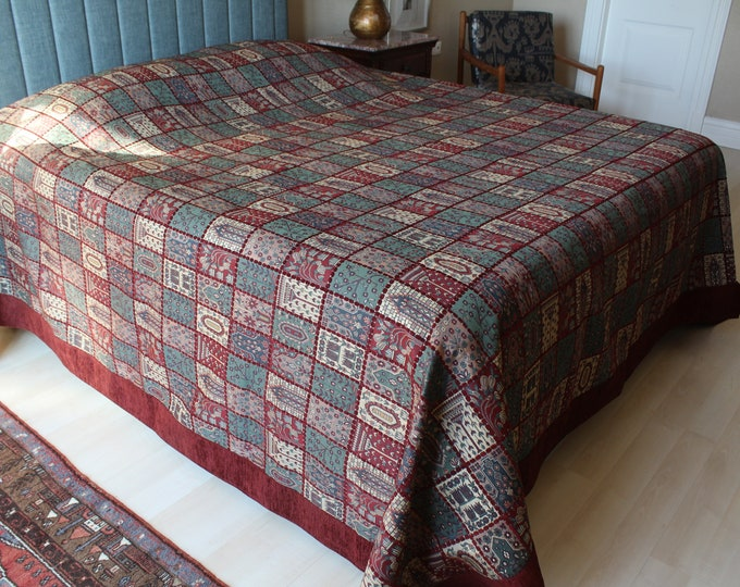 Double Sided Chenille Bed Cover, Special Fabric Blanket, Ottoman Design Bed Cover,  Ottoman Blanket, High Quality Chenille Blanket