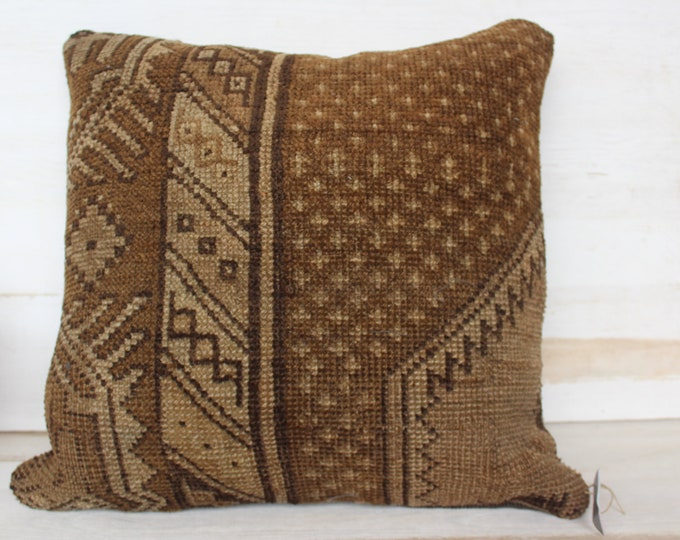 18x18 inch Carpet  Pillow Cover, Carpet  Pillow Case, Ethnic  Rug  Pillow Case, Bohemian  Rug  Pillow Cover, Turkish Pillow Case