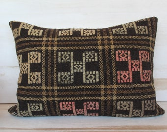 14x20 inch Vintage Kilim Pillow Cover, KILIM  Cushion Cover, Ethnic Kilim Pillow Case, Bohemian Pillow Case, Ethnic Turkish Pillow Cover