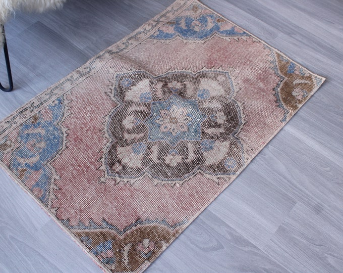 """2'3""""x3'3"""" ft  Small Rug, Small Distressed Rug, Small Oushak Rug, Small Area Rug, Vintage Door MaT"""