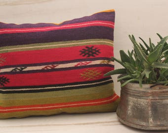 16x20 inch Bohemian Aztec Kilim Pillow ,Ethnic,Tribal,Oriental Kilim Pillow Cover,Striped Kilim Pillow,Throw Pillow,Bench Pillow,Decoative