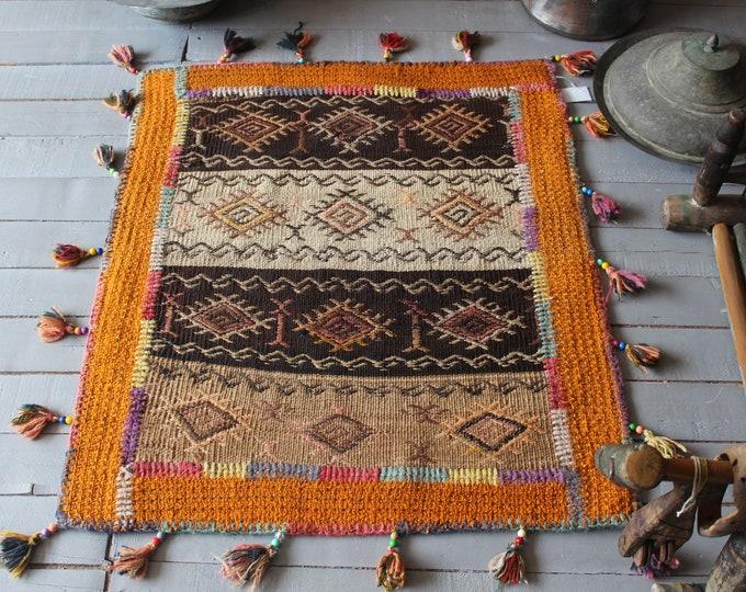 "2'5""x2'9"" PATCHWORK Kilim Rug, Anatolian Handmade Patchwork Kilim Rug, Ethnic Kilim , Bohemian Kilim Rug"