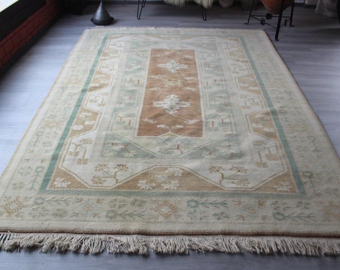 Vintage Rug, Vintage MILAS Rug, Large Turkish Rug, Large Area Rug, Vintage Anatolian Rug, Large Beige Rug, Beige Vintage Rug, Bedroom Rug