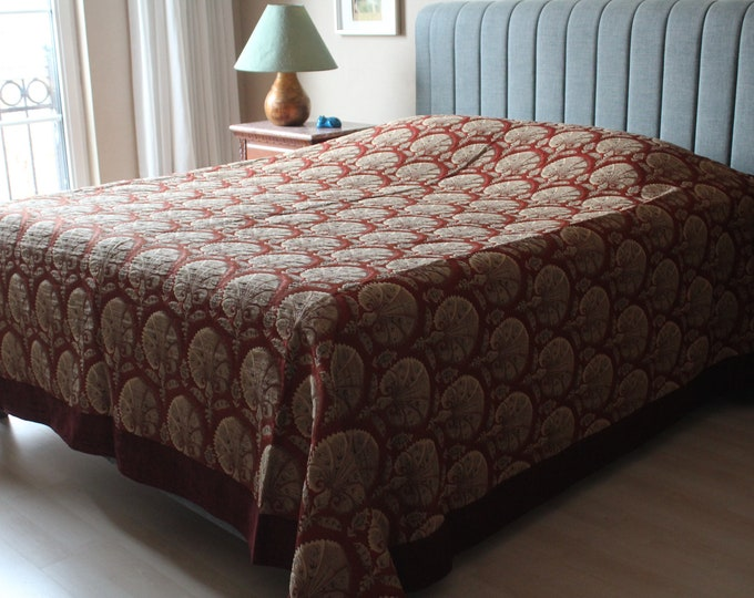 Chenille Bed Cover,  Ottoman Design Bed Cover, Special Bed Blanket, High Quality Bed Blanket , Fabric Bed Cover