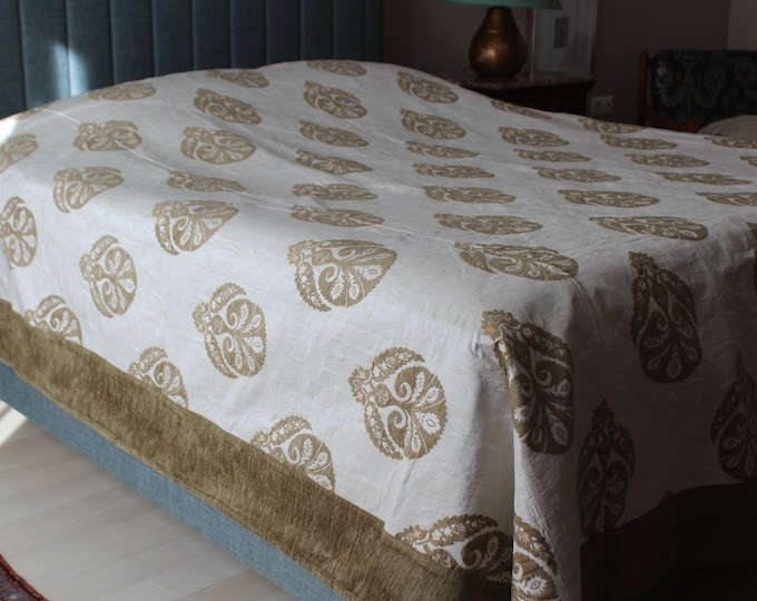 Stylish Chenille Bed Cover, Special Fabric Bed Cover  , Ottoman Design Bed Cover,  Ottoman Blanket, High Quality Chenille Blanket