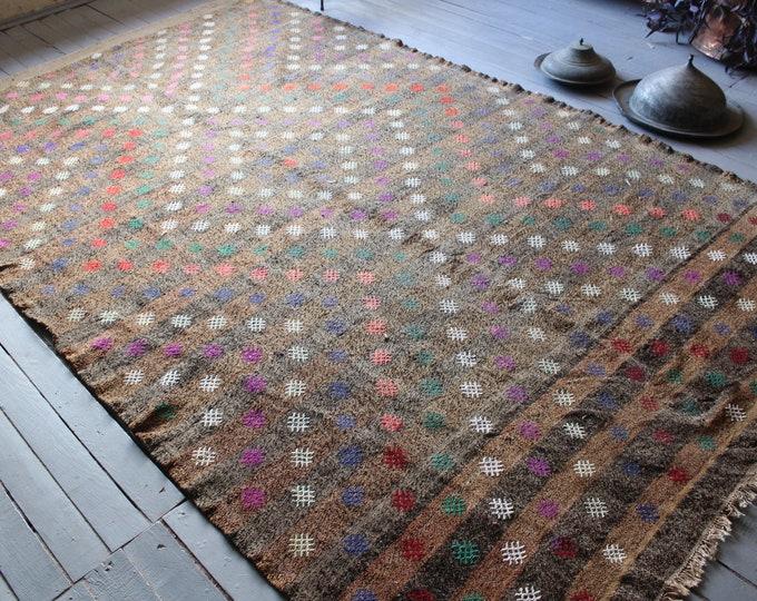 "6'5""x10'8"" ft   Vintage Large Anatolian Kilim Rug, Ethnic Kilim, Bohemian Kilim, Diamond Design Kilim Rug, Modern Design Turkish Kilim Rug"