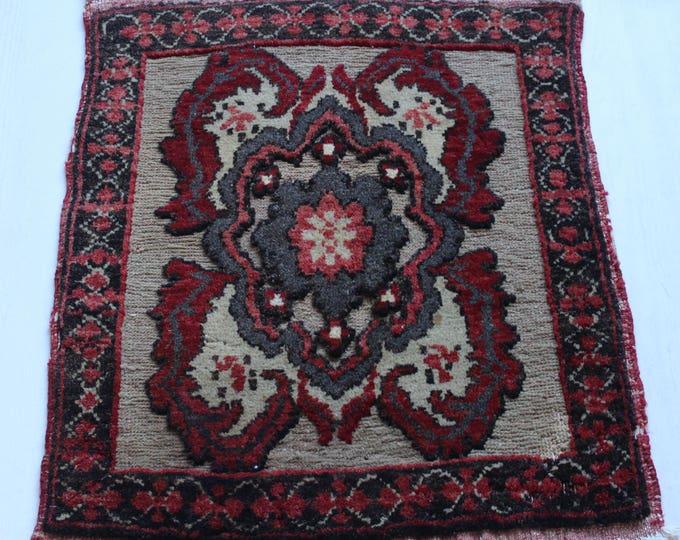 Vintage Small Handwoven Wool rug,Turkish Anatolian Tribal Ethnic Rug,Vintage Home Accessory Rug